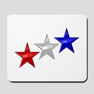 Three Shiny Stars Mousepad